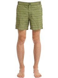 Danward Palm Printed Nylon Swim Shorts