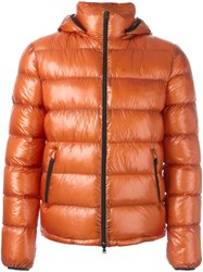 Herno Padded Jacket Yellow And Orange