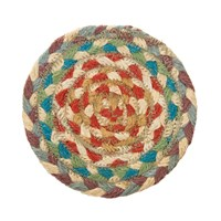Braided Rug Company Coasters Set Of 6 Carnival