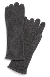 Women's Halogen 'Touch Tech' Cashmere Gloves Grey Medium Charcoal Heather