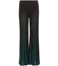 Kenzo Knitted Cotton Blend Trousers Black