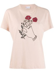 Red Valentino X Poppy's Papercut's Graphic Print T Shirt Neutrals