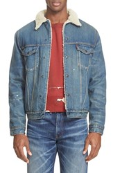 Levi'sr Vintage Clothing Men's Levi's '1967 Type Iii' Denim Jacket With Faux Fur Collar Blue