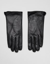 Barney's Originals Touch Screen Compatible Real Leather Gloves Black