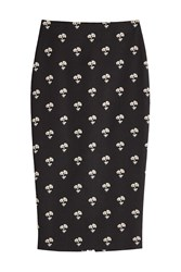 Victoria Beckham Embroidered Pencil Skirt