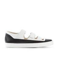 Jil Sander Navy Cut Out Velcro Strap Sneakers
