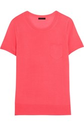 J.Crew Collection Cashmere T Shirt Bright Pink