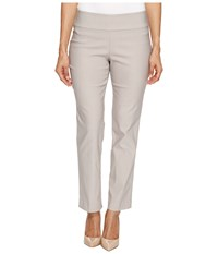 Nic Zoe Petite Wonderstretch Pant French Linen Women's Dress Pants Taupe