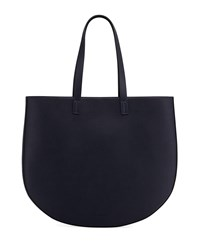 French Connection Hollis Faux Leather Tote Bag Utility Blue