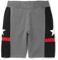 Givenchy Panelled Cotton Jersey Shorts Gray