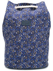 Fefe Paisley Print Backpack Blue