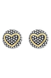 Lagos Women's 'Caviar' Heart Stud Earrings