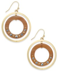 Kate Spade New York Out Of Her Shell Gold Tone Tortoiseshell Look Orbital Earrings Horn