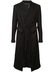 Cedric Jacquemyn Belted Mid Length Coat Black