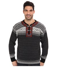 Dale Of Norway Setesdal Unisex Sweater F Black Off White 2 Men's Sweater
