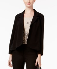 Alfani Petite Mixed Media Blazer Only At Macy's Deep Black