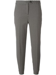Boutique Moschino Patterned Tapered Trousers Black