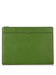 Valextra Leather Document Holder Green