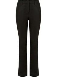 Andrea Marques Panel Detail Slim Fit Trousers Black
