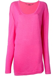 Barbara Bui Scoop Neck Sweater Pink And Purple