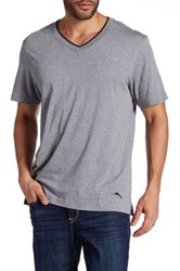 Tommy Bahama Heather Short Sleeve Jersey Shirt Gray