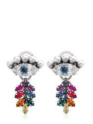 Anton Heunis Eye And Tiny Leaf Earrings