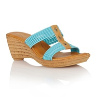 Lotus Verona Wedge Sandals Turquoise