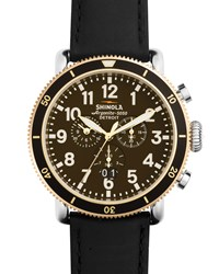 47Mm Runwell Sport Chronograph Watch With Black Strap Men's Shinola