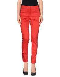 Biancoghiaccio Trousers Casual Trousers Women Red