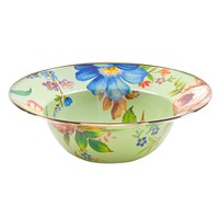 Mackenzie Childs Flower Market Enamel Serving Bowl Green