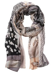 Betty Barclay Multi Print Scarf Taupe Apricot