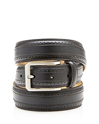 Bloomingdale's The Men's Store Wing Tip Belt Black