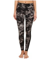 Zobha Cosmo Printed Leggings With Mesh Panels Pewter Women's Workout