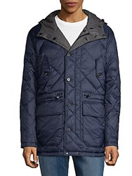 Hawke And Co Reversible Down Filled Jacket Heather Charcoal