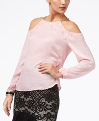 Thalia Sodi Cold Shoulder Chain Embellished Top Created For Macy's Pink Perfection