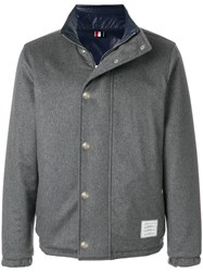 Thom Browne Reversible Down Filled Cashmere Jacket Grey