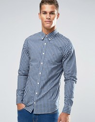 Tommy Hilfiger Shirt With Gingham Check In Slim Fit Navy 08878A0715