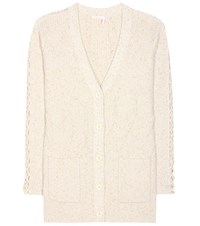 See By Chloe Cotton Blend Cardigan Beige