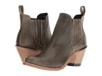 Old West Boots Gored Ankle Boot Olive Cowboy