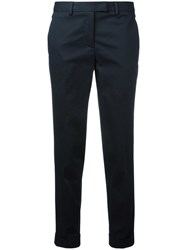 Alberto Biani Cropped Chino Trousers Blue