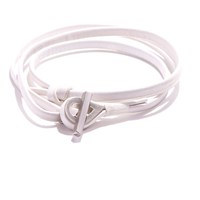 Jam Mmxiv White Shoestring Multi Wrap Bracelet