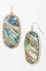 Women's Kendra Scott 'Danielle Large' Oval Statement Earrings Abalone Shell Gold