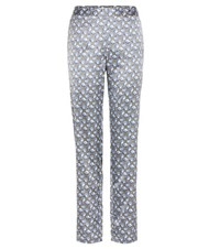 A.P.C. Marceau Printed Satin Trousers Multicoloured