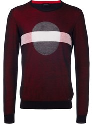 Diesel 'Cyclus' Pullover Red