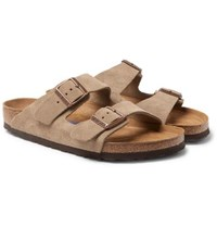Birkenstock Arizona Suede Sandals Beige
