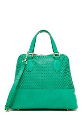 Urban Expressions Marisol Perforated Dome Satchel Green
