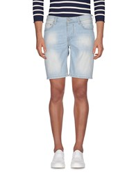 0 Zero Construction Denim Bermudas Blue