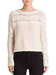 Ramy Brook Jessica Textured Merino Wool Sweater Ivory