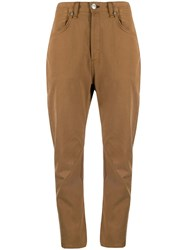 Rag And Bone Cropped Trousers Brown