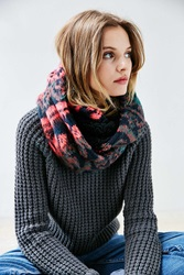 Urban Outfitters Brushed Plush Lined Eternity Scarf Multi